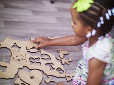 Map of Africa Jigsaw Puzzle For Kids