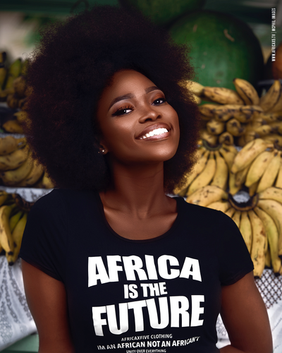Africa is the Future Crop Top (Black)