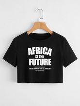 Load image into Gallery viewer, Africa is the Future Crop Top (Black)
