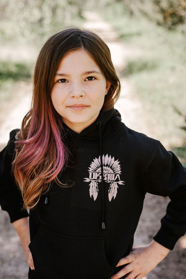 Unisex Youth Hoodie - Feather Design