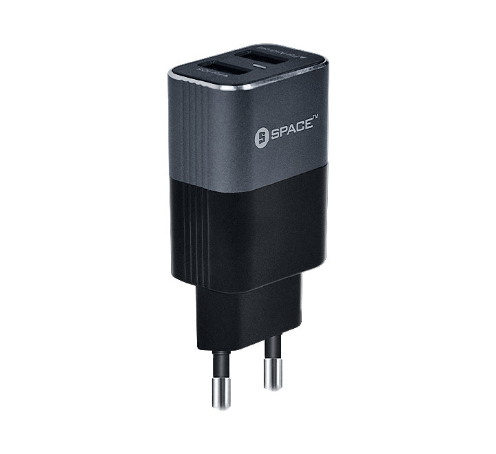 Metal Series Dual Port USB 2.4A Wall Charger