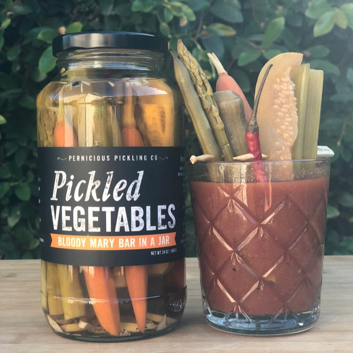 Pickled Vegetables: Bloody Mary Bar in a Jar