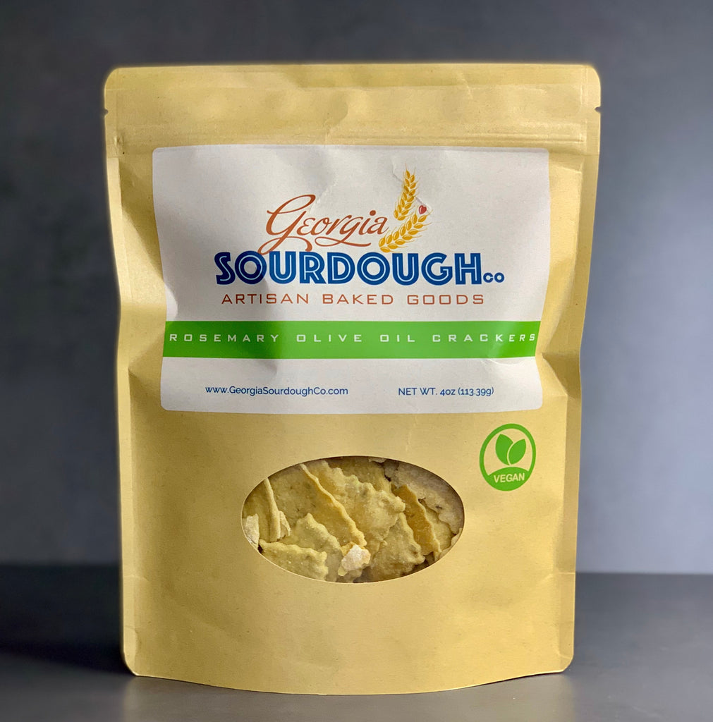Georgia Sourdough Co. Rosemary Olive Oil Crackers