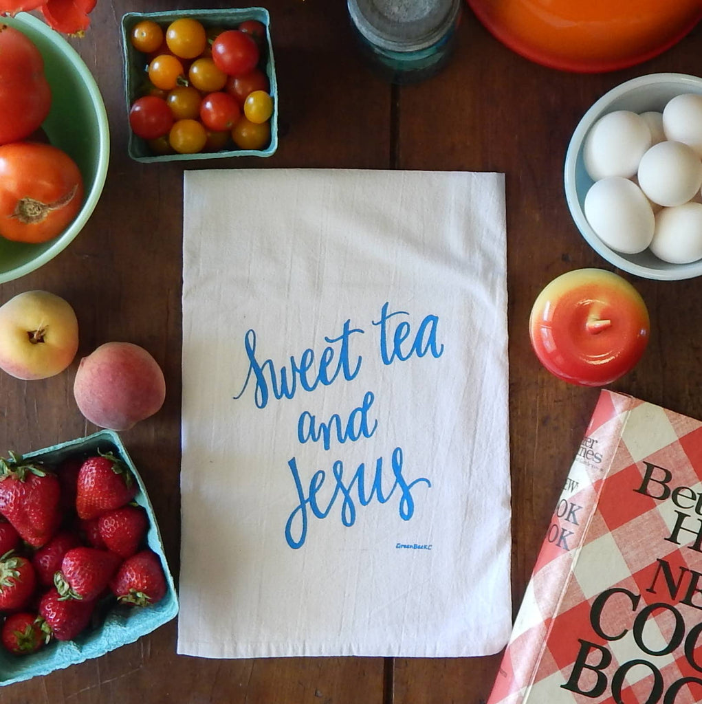 Sweet Tea and Jesus Tea Towel