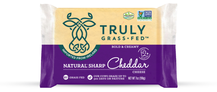 Truly Grass Fed Natural Sharp Cheddar