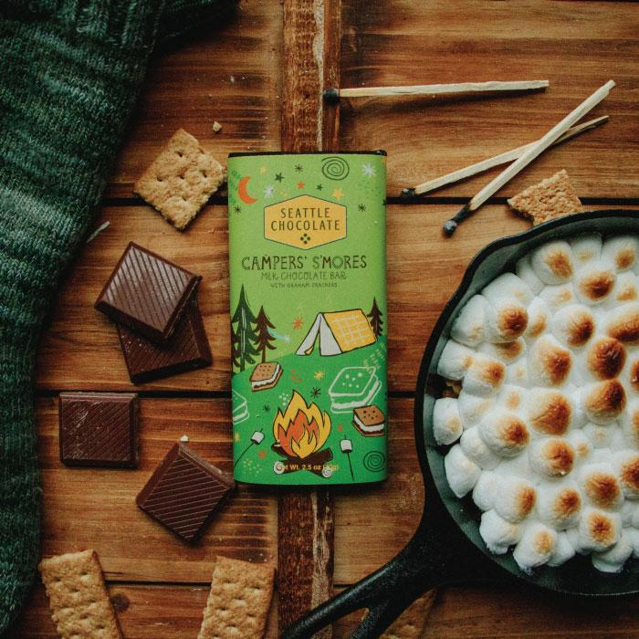 Campers' S'Mores Truffle Bar
