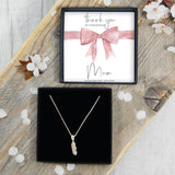 Feather Necklace - Mum Thank You