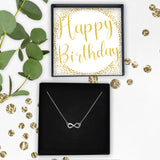Infinity Necklace- Happy Birthday