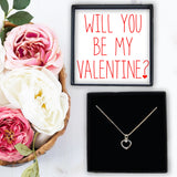Heart Necklace - Will You Be My Valentine?
