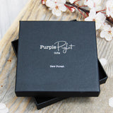 Purple Piglet Gifts New Forest In Silver Print On Matt Black Gift Box With Black Foam Pad