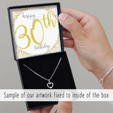 Double Heart Necklace - Happy Birthday