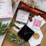 Luxury Letterbox Hamper | Wellness Sterling Silver Heart Necklace