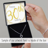 CHOOSE AGE - Double Heart Necklace - Happy Birthday
