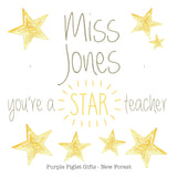 Beaded Bracelet Star - Teacher Thank You