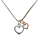 Double Heart Necklace - Secret Santa Shhhhhh