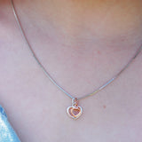 Double Heart Necklace - Secret Santa Merry Christmas