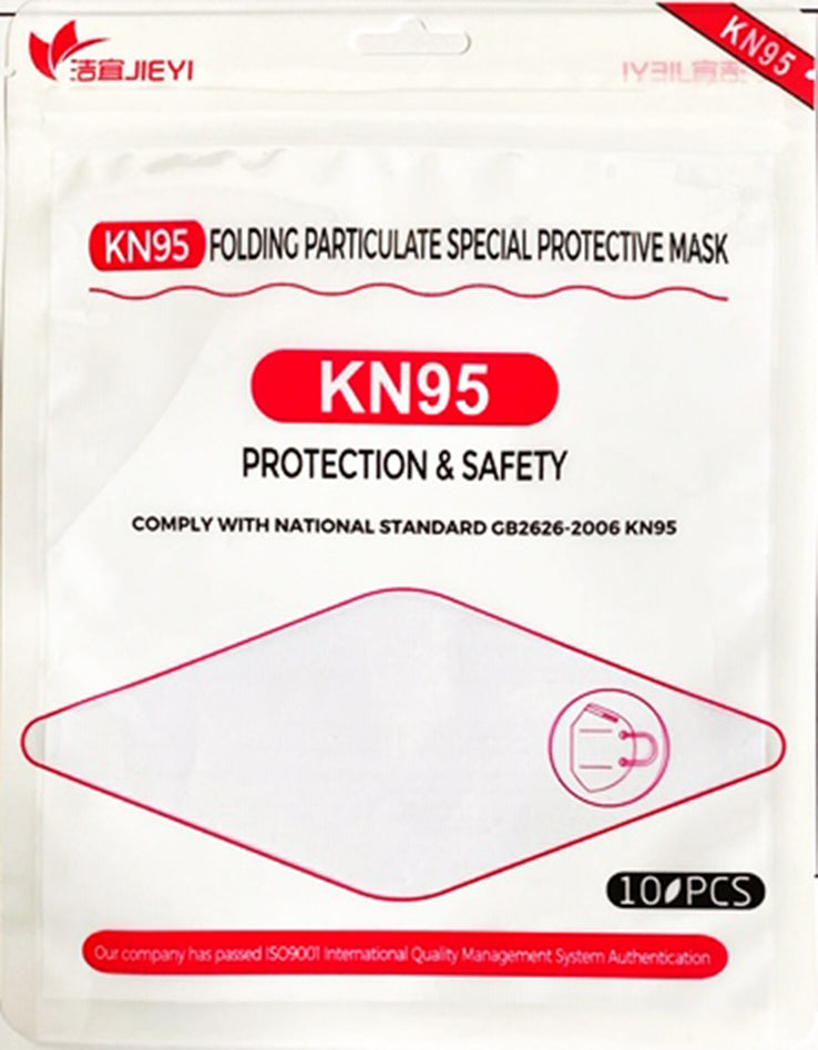 KN95 Folding Particulate Special Protective Mask 1pack of 10pieces 9503KN95 White