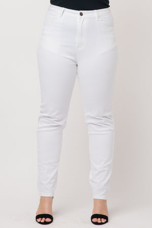 Womens Plus Size High Rise Color Cotton Skinny Jeans