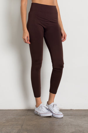 Premium Women's High Waist Color Fleece Leggings