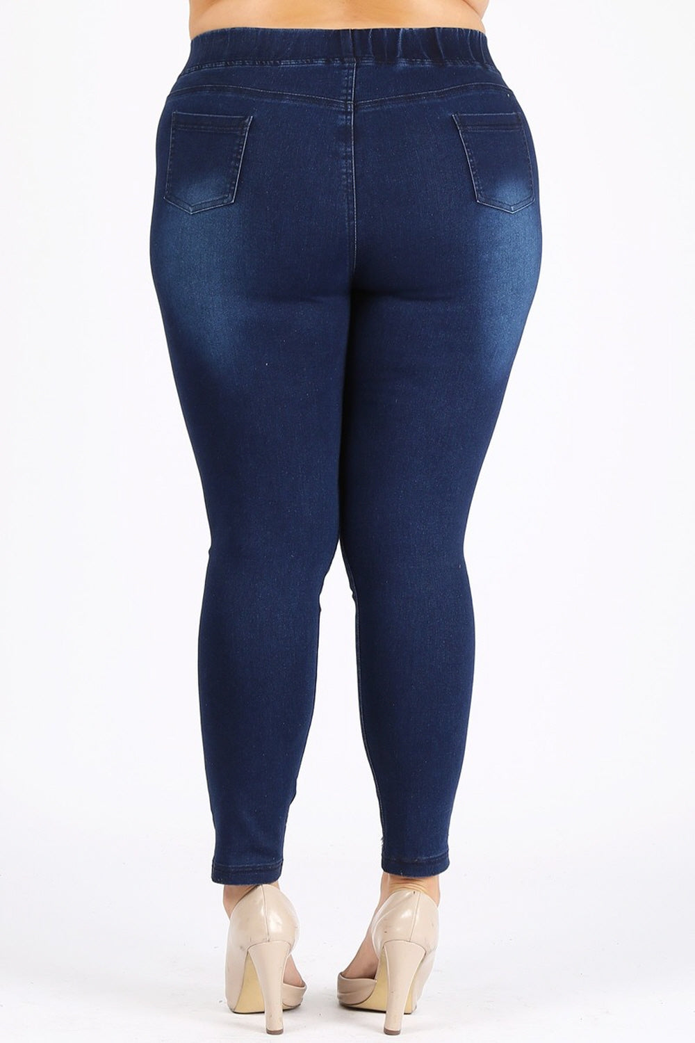 Extended plus size denim jeggings jeans waist-hugging 4XL 5XL 6XL