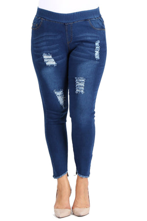 American Blue Plus Size High Rise Stretched Denim Jeggings Jeans 1X 2X 3X