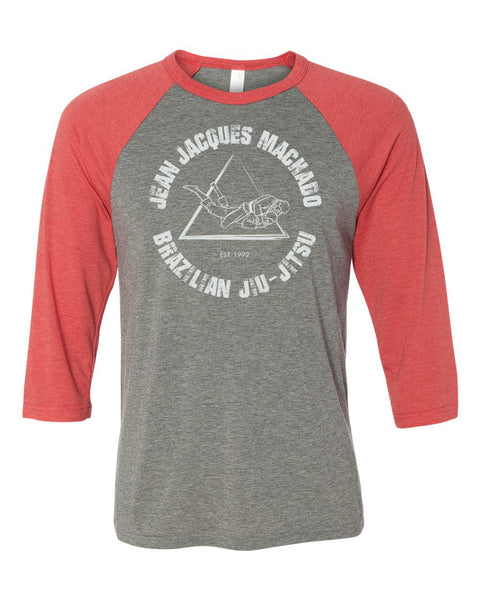 JJM Baseball Tee – Vintage Grey/Red