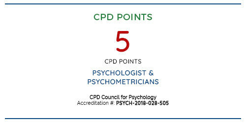CPD Points: 5 for Psychology