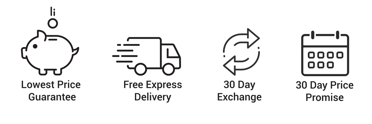 Lowest-Price-Guarantee_30-Day-Exchange_Free-Express-Delivery_30-Day-Price-Promise_White