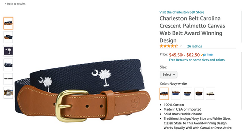 Charleston Belt product review on amazon.com