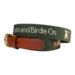Golf Birdie On Needlepoint Belt