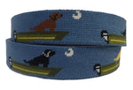 hand made needle-point belt boat dog - charlestonbelt.com