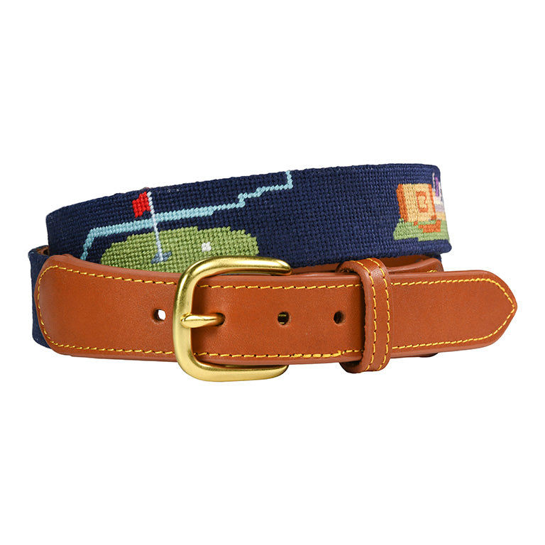 Charleston Belt Classic Golf Hand-stitched Needlepoint