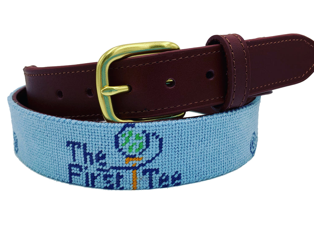 hand-made needle-point belts - first tee of greater charleston golf and gala 2020 - charlestonbelt.com