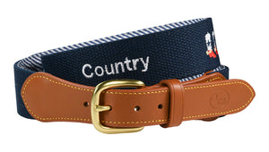 hand-made needle-point belts - god, country, cowboys - charlestonbelt.com