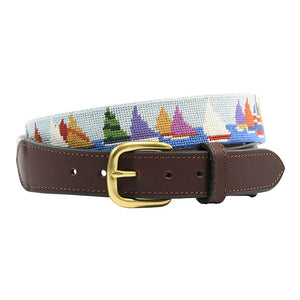 handstitched needlepoint belts sailing race week - charlestonbelt.com