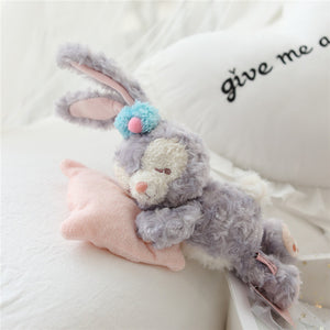 Cute cartoon types of sleeping animal dolls