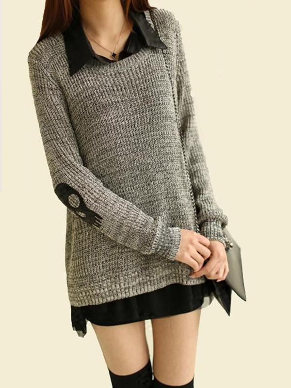 Lady skeleton color contrast sweater
