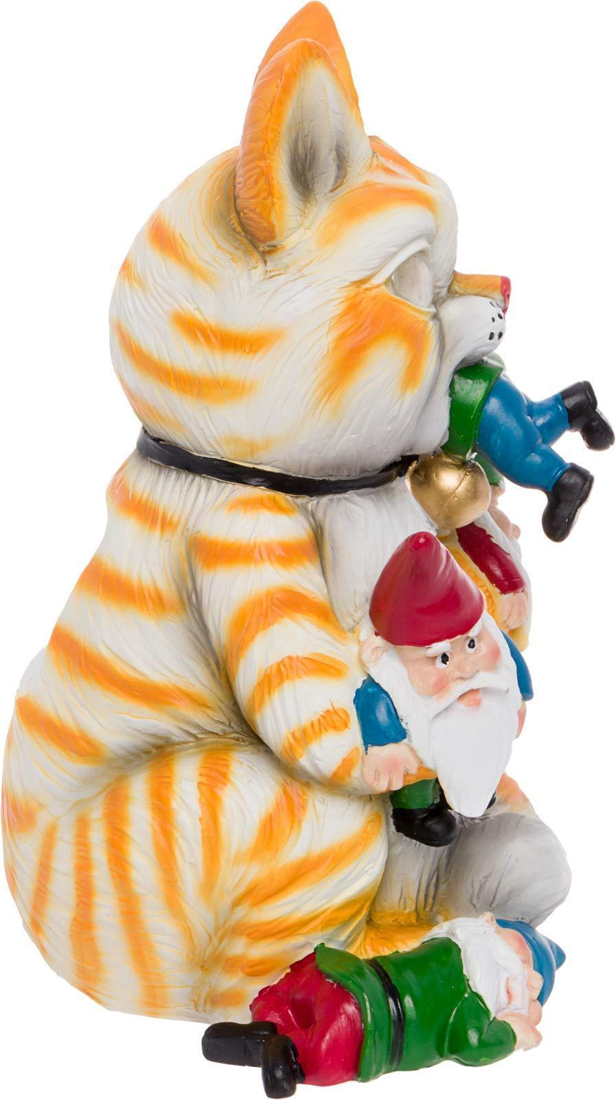 Orange Cat Massacre Garden Gnome
