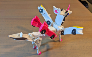These Magnetic Cars Automatically Transform Into a Unicorn When Connected