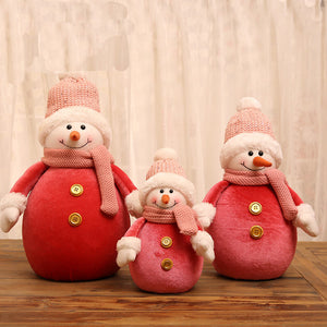 Christmas  retractable snowman old man Christmas doll