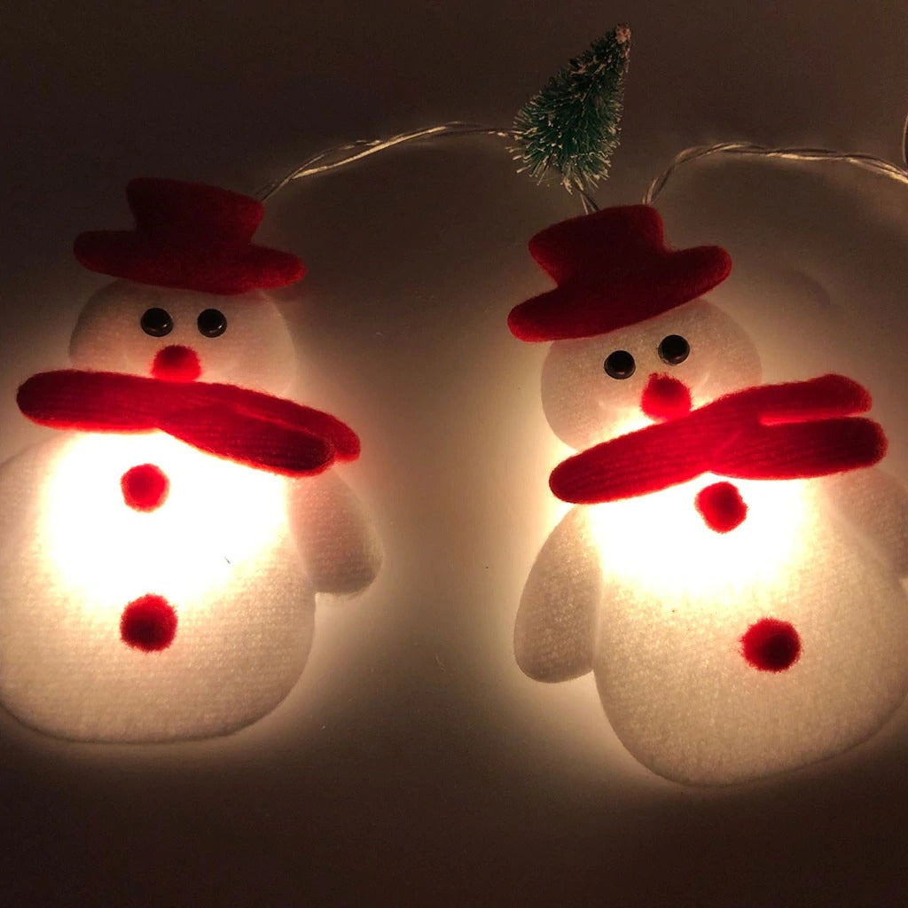 Christmas Decoration For Home Snowman Christmas Tree LED Garland String Lights