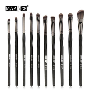 MAANGE High Quality 4/7/10pcs Eyes Makeup Brushes Set Eyeshadow Eyeliner Eyebrow Lip Concealer Make Up Brush Cosmetics Tools Kit