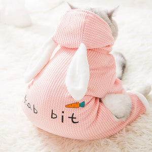 Snailhouse 2019 New Cat Clothes Simple Cute Transformed Dress  Bunny Thicken Clothes Kitten Puppy Thick Winter Clothing Pet Dogs