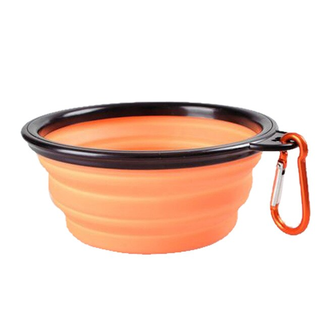 Snailhouse Collapsible Bowl Folding Silicone Pet Travel Bowls Safe Outdoor Food Water Feeding BPA Free Dog Bowls With Carabiner
