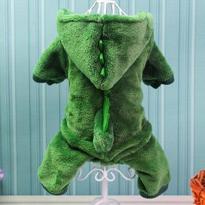 Pet Cat DogClothes Funny Dinosaur Costumes Plush Cat Coat