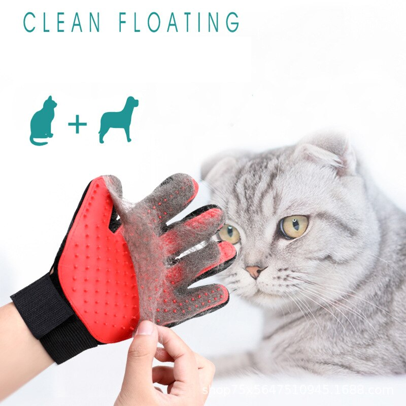 Snailhouse Pet Glove Cat Grooming Deshedding Brush Gloves Cats Dog Animal Back Massage Fur Washing Bathing Glove Comb For Animal