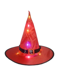 Halloween party glowing witch hat