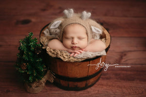 Deer Bonnet for newborn photo prop