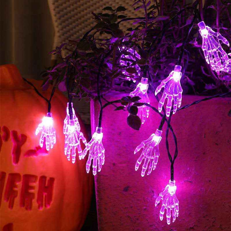 Solar Halloween Lights  Halloween Decor  String Lights  Porch Decor  Patio Decor  Solar Lights Outdoor  Yard Lights  Yard Decor