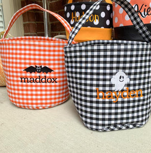 Trick or Treat Basket, Personalized Halloween Basket, Halloween Bag, Trick or Treat Bucket, Happy Halloween!